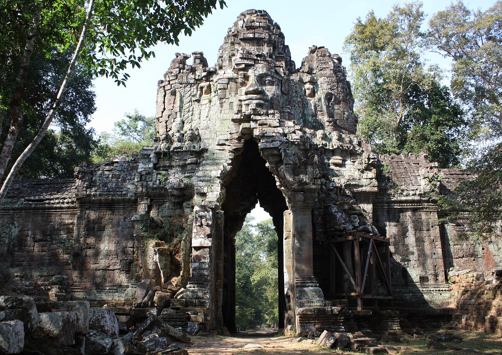 stone gates in Angkor