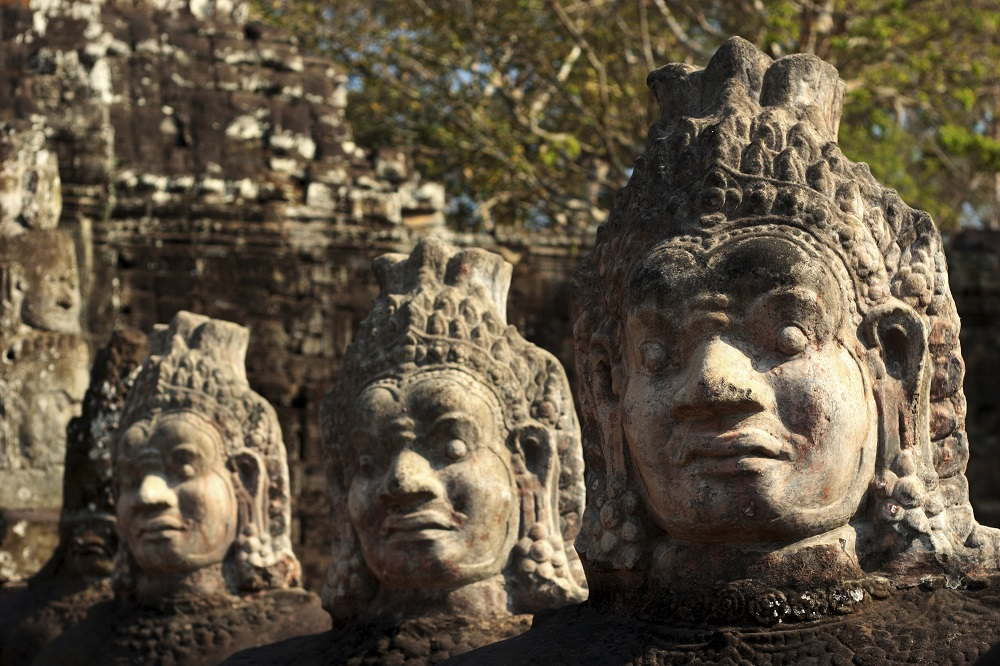 Statues in Angkor