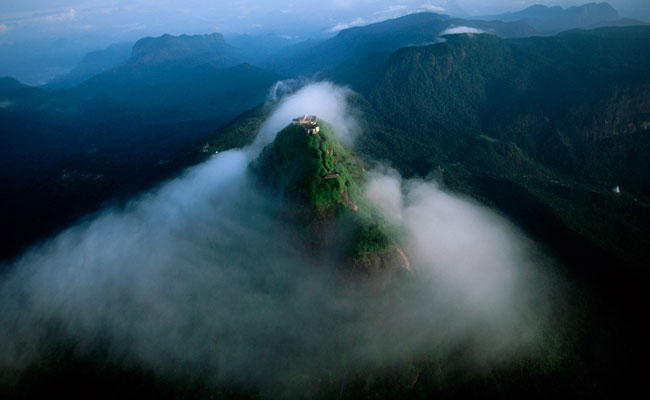 Birds Eye view of Adam's Peak