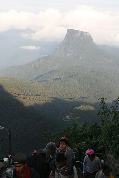 Pilgrims climbing Adam's Peak