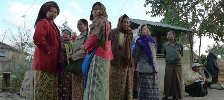 tribal women in shan plateau