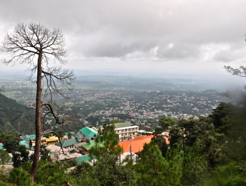 View of Dharamsala from Mcleodganj