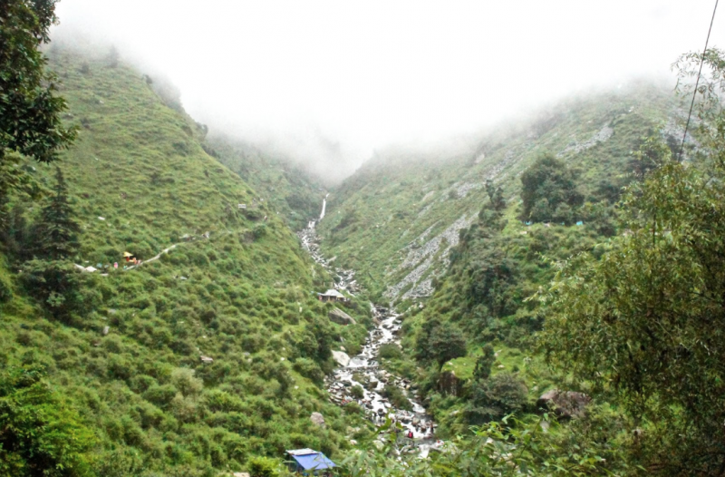 Waterfall at Bhagsu village