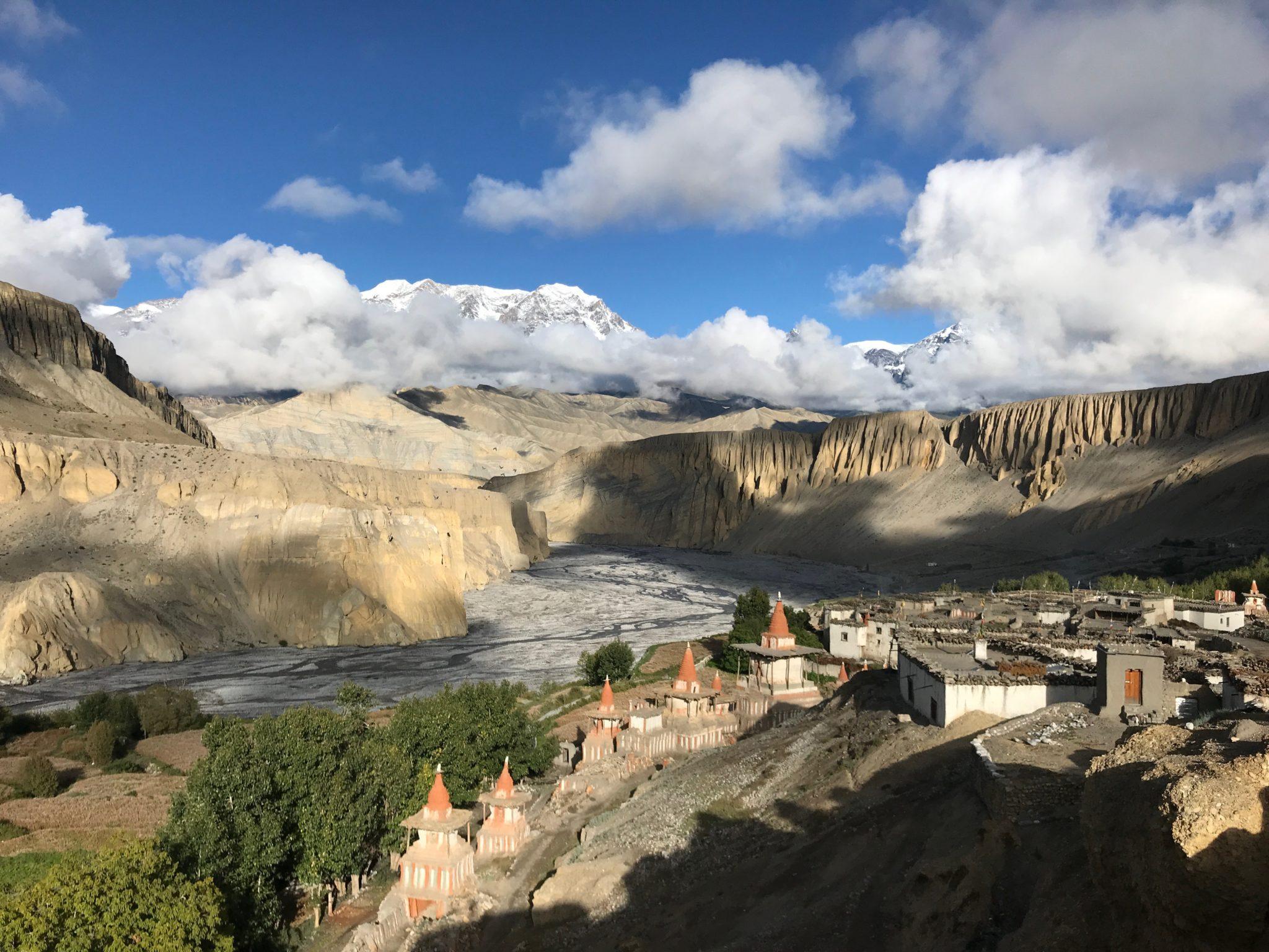Village de Tanggye, Mustang, Nepal